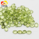 Wholesale Oval Shaped Olive Green Peridot Natural Crystal Quartz Stones Jewelry Accessory for Engagement/Party/Birthday