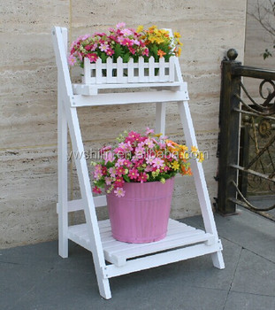 Flower Stand Designs : New design hot sales folding wooden flower bucket stands buy