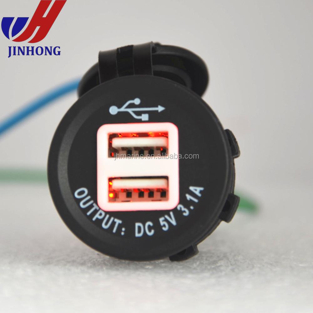Auto KFZ 3,1A Doppel USB Buchse Ladeger/ät Stecker DC 12//24V Wasserdicht