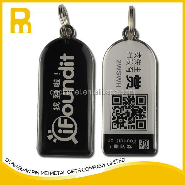 Wholesale material stainless steel with black laser engraved key chain