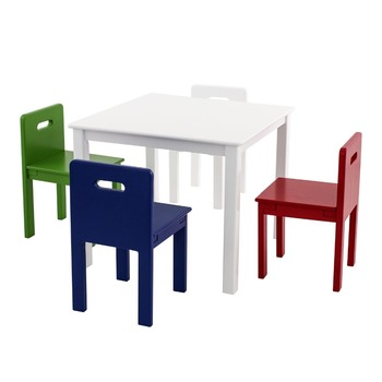 Vintage Kids Table And Four Colored Chairs Cheap Kids Table And Chairs  Clearance