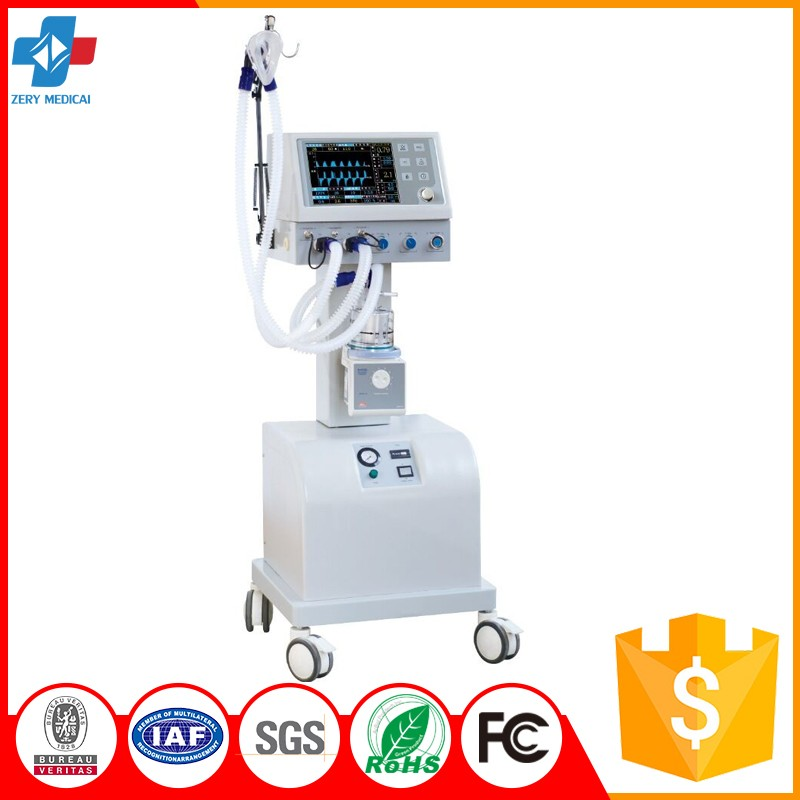 ZYM-100B Hospital Treatment Medical ICU Ventilator Machine Price/ Medical Ventilator