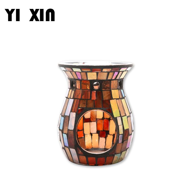 Mosaic Glass Candle Holder Incense Burner Oil Lamp Birthday Christmas Decor