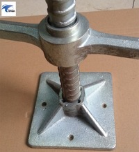 Construction Scaffolding Adjustable 120*120*4mm*450mm Hollow Solid Screw Jack Base