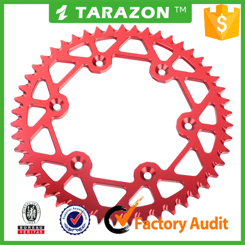 46-54 teeth motorcycle aluminium alloy rear sprocket for honda