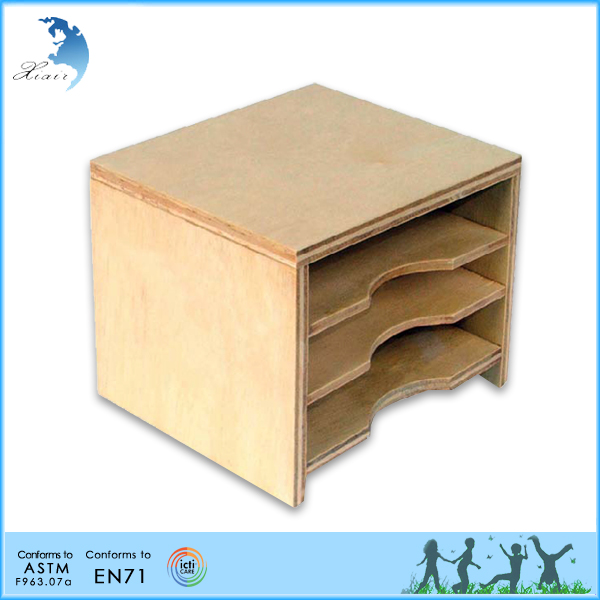 Nursery Wooden Educational Montessori Teaching Material EN71 Toy for Toddler Leaf Cards Cabinet