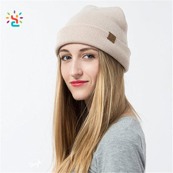 Wholesale multi-color head wear cuff knit beanie hats for men and women  slouch caps 8d0cfadd9fc