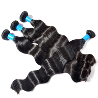 100 virgin hair unprocessed 1b 613 two tone hair, 30 inch micro ring hair extensions, raw unprocessed virgin cambodian hair