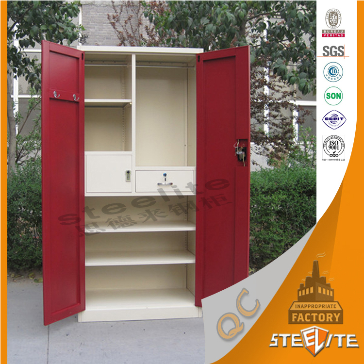 Malaysia good price customized steel lockable storage portable bedroom almirah designs clothes - Almirah designs for clothes ...