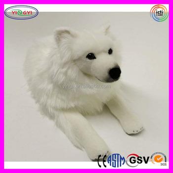 19ddcf8ab02 A496 White Vivid Dog Plush Toy Japanese Spitz Stuffed Dog - Buy ...
