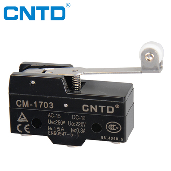 CNTD High Accuracy Iron Screw Terminal Plastic Roller 15A Micro Switch for Door Control (CM-1703)