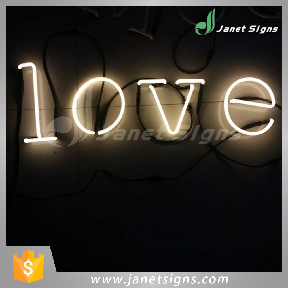 High quality real glass neon sign interior signage
