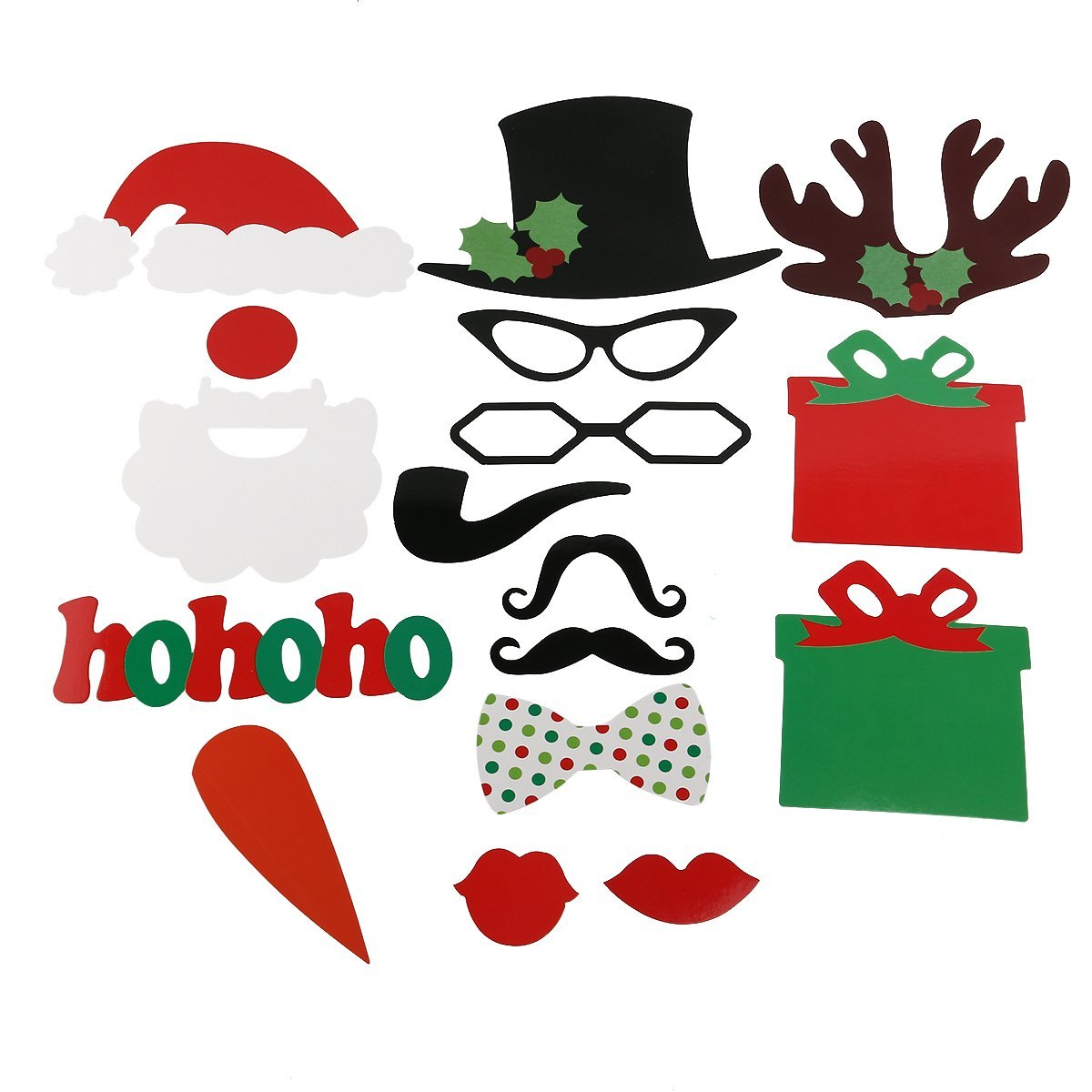 Cheap christmas photo booth find christmas photo booth deals on get quotations tinksky 17pcs photo booth diy glasses moustache red lips deer horn santa hat on sticks christmas solutioingenieria Image collections