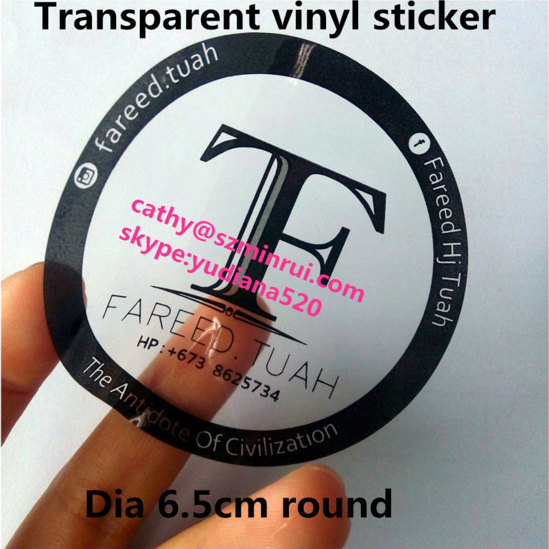 Custom Transparent Labels Printing With Different ColorCustom - Custom clear vinyl stickers