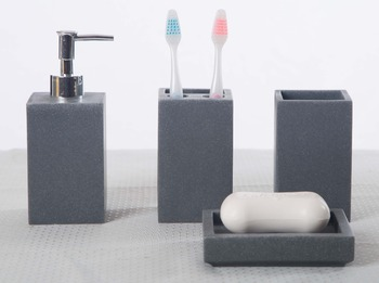 Attractive Natural Cheap Stone Resin Bathroom Accessories Set For Home
