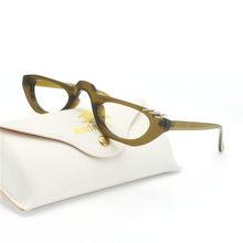 Mincl/маленькие винтажные прямоугольные солнцезащитные очки, женские металлические украшения, половинная оправа, брендовые ретро очки в стил...(Китай)