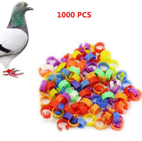 1000pcs/set Bird Rings Leg Bands for Pigeon Parrot Finch Canary Hatch Poultry Rings