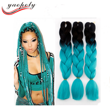 24''High Temperature Fiber Two Tone Synthetic Hair Expression Jumbo Braid