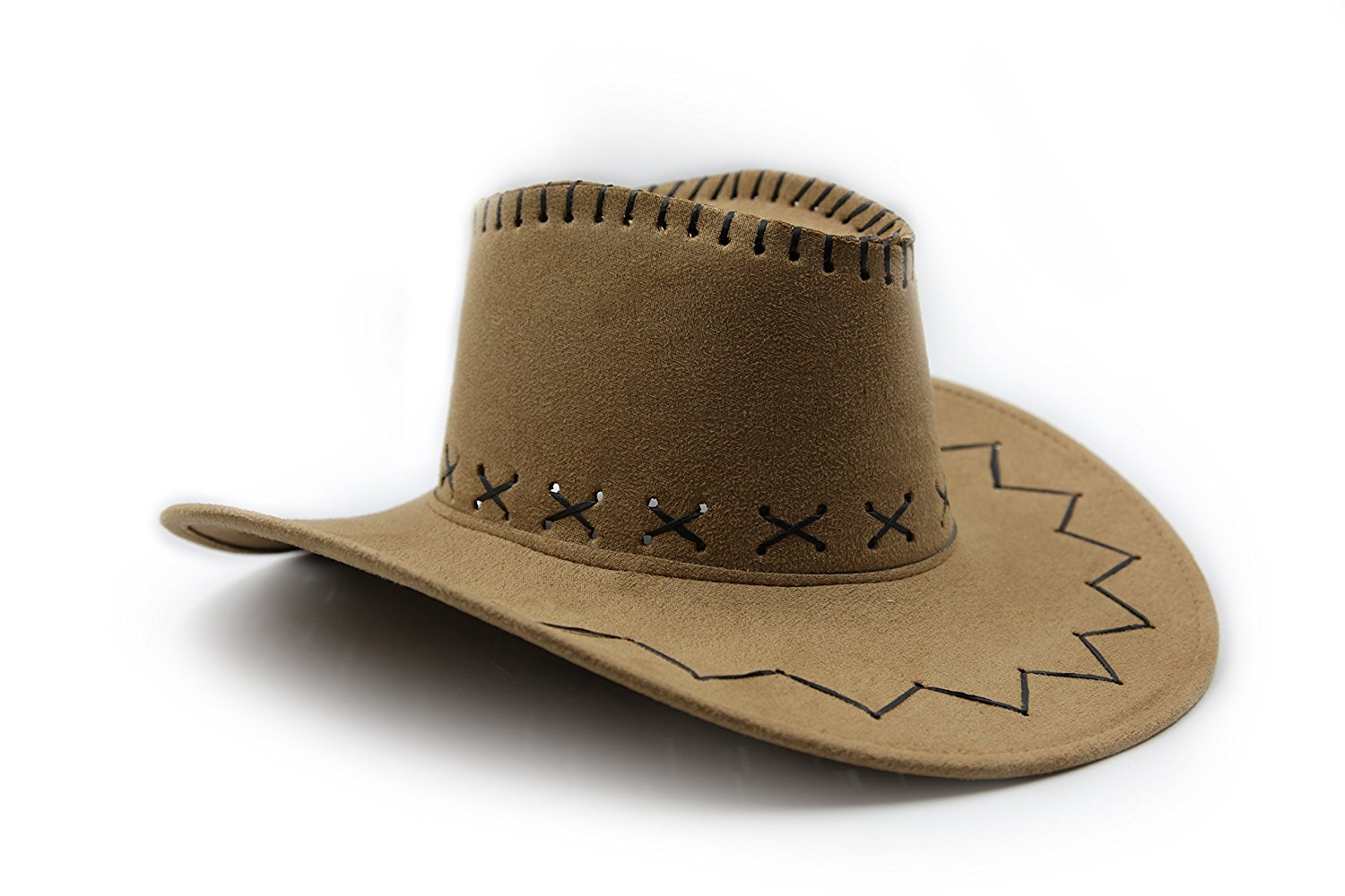 826292ae0db Get Quotations · Soaka Light Weight Cowboy Cowgirl Hat - Microsuede Cowboy  Hat - Play Kreative TM