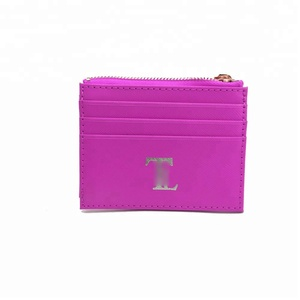 High Quality Durable Women Short Purse PU Leather Solid Saffiano Safe Metal Zip Wallet Card Holder For Girls