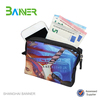 Promotional small cute neoprene wallet with zipper and strap