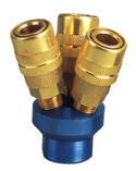 3 Way Quick Connect Air Hose Splitter coupler Manifold