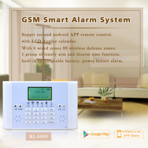 LCD display gsm alarm system home security alarm system home alarms systems BL6000