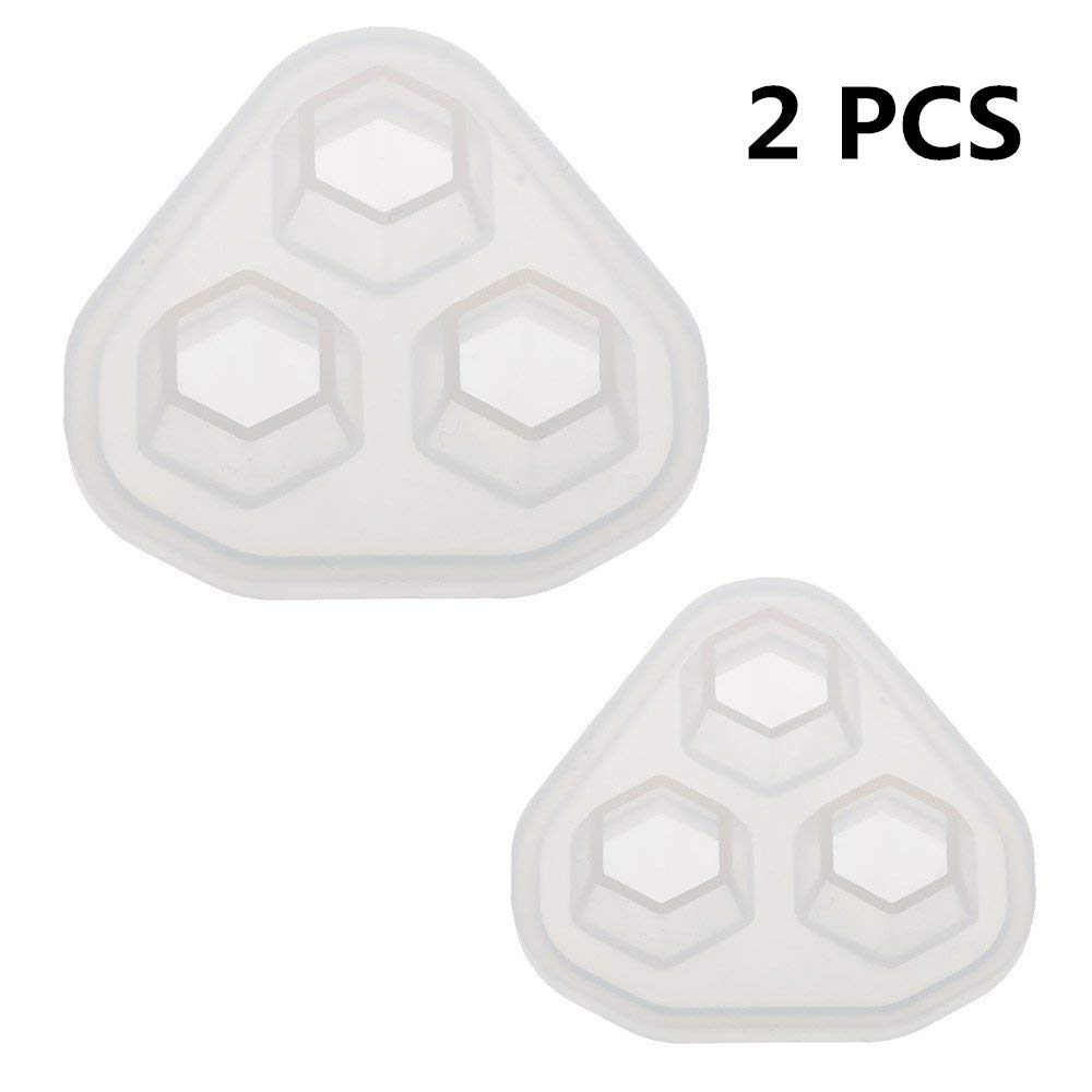 2 Pcs/Set Diamond Shape Clay Mold, Epoxy Resin, Pendant Silicone Mold with Jewelry Molds,Earring Necklace Making and DIY Craft Making,Fondant Candy Mold