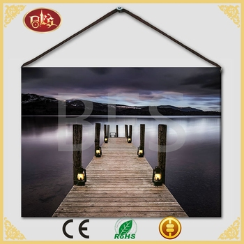 Light Led Lake Side Wholesale Canvas For Print