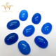 Wholesale oval cabochon cut dark blue dyed jade stone