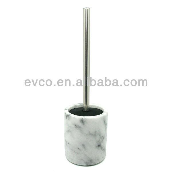 White Marble Toilet Brush Holder W Silicone Lid Product On Alibaba