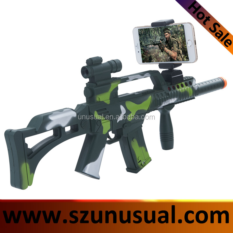 DIY Reality AR Toy Gun with Cell Phone Stand Holder Protable plastic AR Gun with 3D AR Games