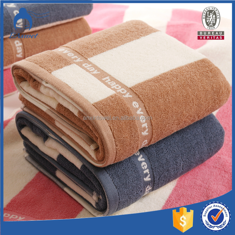 Colorful Cotton Jacquard Yarn dyed 100% cotton Bath towels on sale