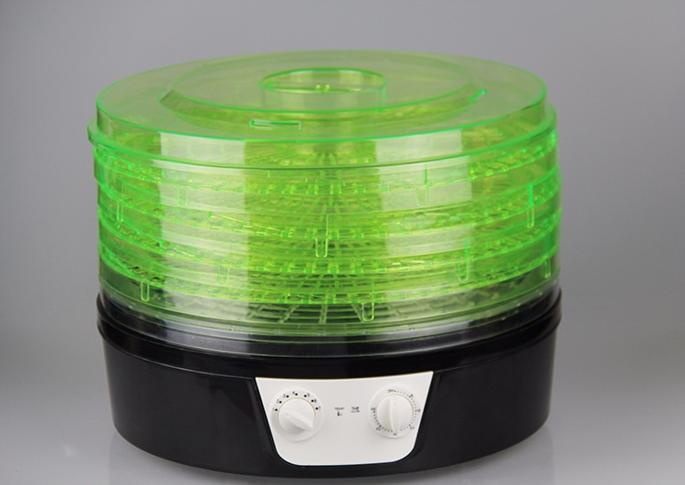 360 degree rotation new design household electric food dehydrator machine with 5 -Tiers