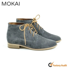 MK031-1 TAUPE kid suede global popular high fashion lace-up casual shoes OEM/ODM customized shoes manufacturer