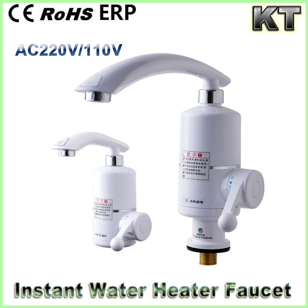 220V 3000W Instant Electric Heating Faucet Kitchen long neck instant hot water tap electric faucet