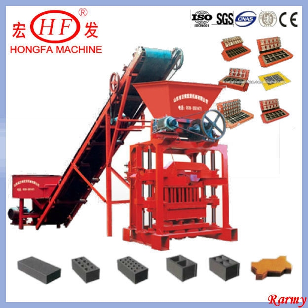 QTJ4-35B small cement block machine / low-input building block making machine / easy production line to make cement blocks