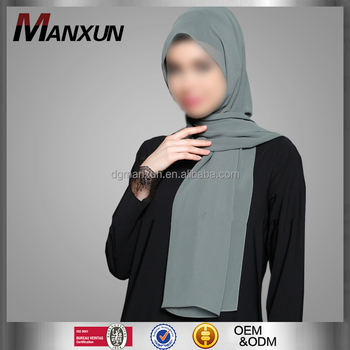 Wholesale Online Dubai Chiffon Scarves Muslim Most Beautiful Hijab Scarf