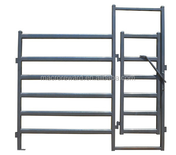 Steel Cattle Corral Panel Metal Livestock Field Fence Gate