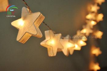 Stelle di carta stringa di luce serie di luci di festa serie lampada