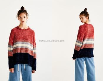 2017 оптовая продажа женщин синель свитер с прорезями с длинным