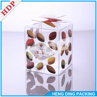custom plastic transparent pvc packing box with soft crease for gift