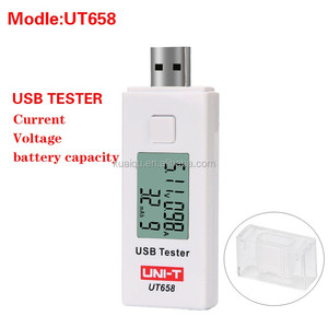 UT658 USB voltage and current meter power capacity mobile power testing and detection instrument 1.2inch OLED display