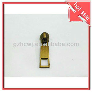 handbag metal zipper slider,brass zipper slider