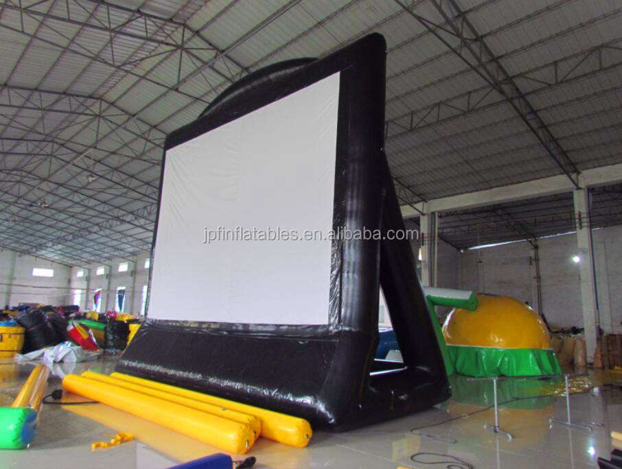2017 Air sealed backyard Inflatable movie screen for party, rear projection screen