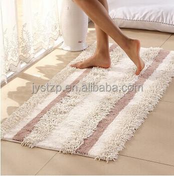 Cheap Price Non Slip Chenille Bath Mat,white Cotton Loop Bath Rugs