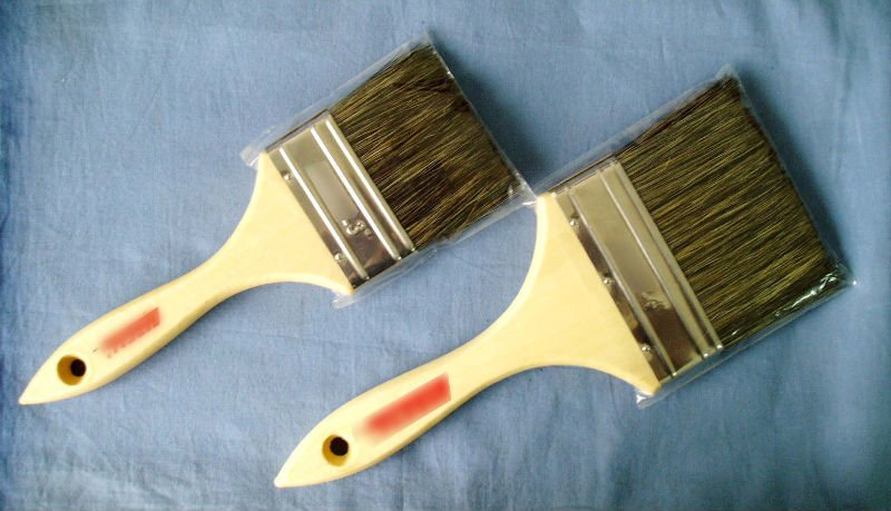 Bristle paint brush for painting the wall
