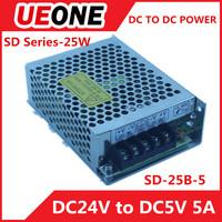 High quality 25W 5V single output power supply dc dc converter DC24V TO DC5V