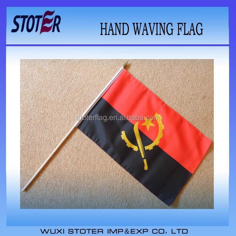 Large Hand Waving Courtesy Flag - Angola