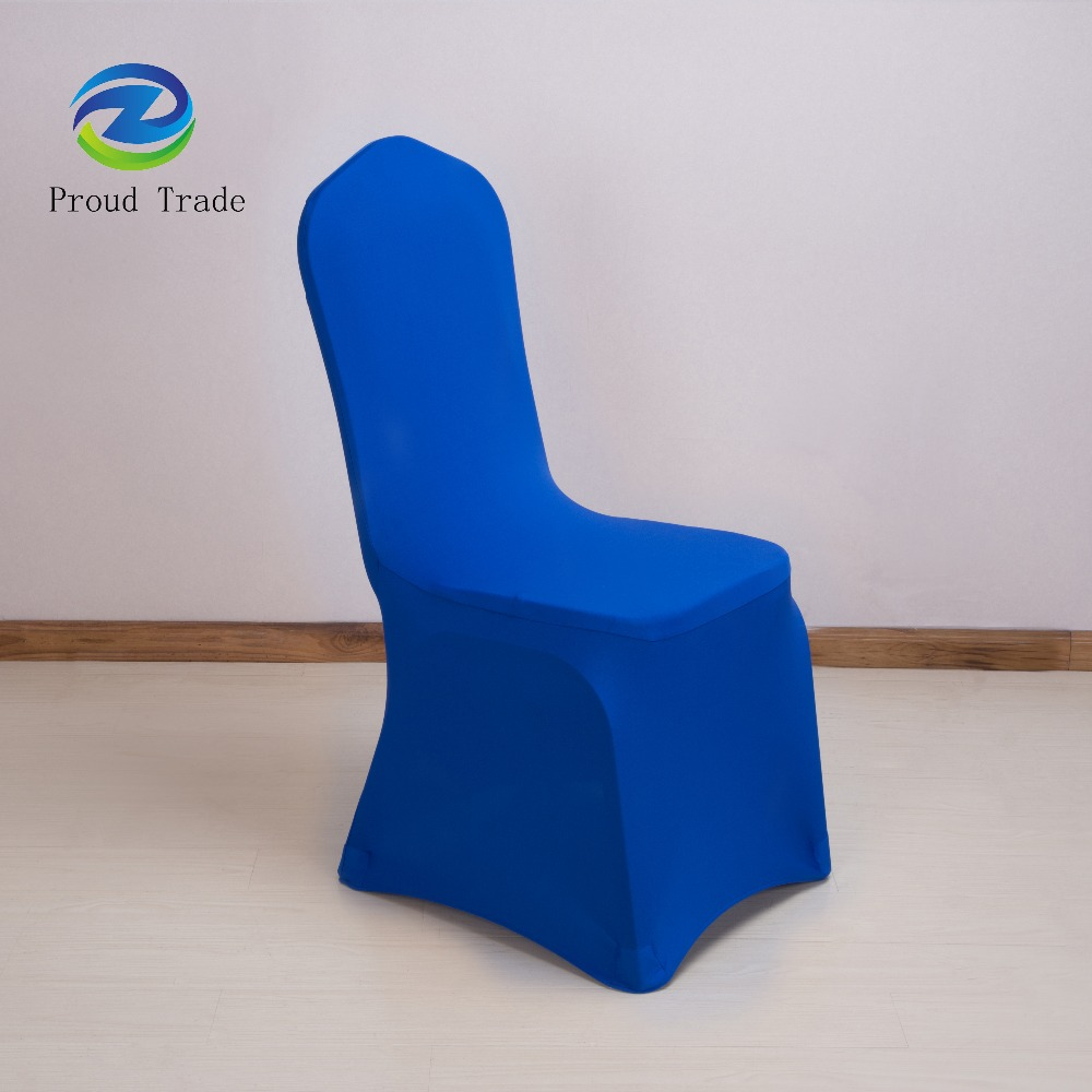 Strong stretch universal royal blue wedding chair cover spandex